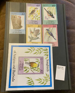 Barbuda - 1984, Songbirds, Birds set - MNH - SG 869-73