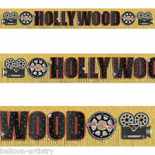 3m Hollywood Movie Film Reel Camera Party Glitter Fringed Banner Decoration