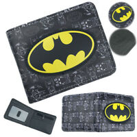 Batman Wallet DC Superhero Bi-Fold Card Holder Purse 3D LOGO Cosplay Gift Otaku