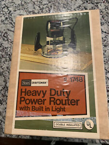 Vintage Brand New In Sealed Box NOS Sears Craftsman Router 9 1748
