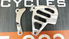 Honda CR 250 500 Front Sprocket Cover Guard Case Saver Bare Silver 1984 1989 01