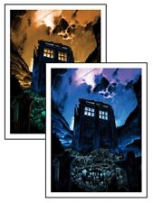"TIM DOYLE ""The Fields Of Trenzalore"" 18x24 Original AND Variant Prints (Dr. Who)"