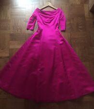 Vintage Carolina Herrera Evening Gown Party dress Prom Wedding  Pink/ Fuchsia XS