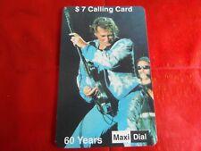 RARE CARTE NEUVE - JOHNNY HALLYDAY 2 - MAXI DIAL - 60 YEARS - 7 $ - 350 ex