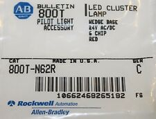 ALLEN BRADLEY 800T N62R 24V RED LED Cluster Lamp Bulb Wedge Base 6 Chip