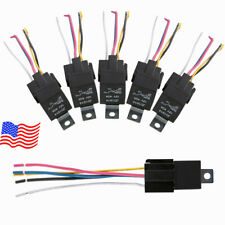 5 Pcs 5Pins 5 Wire 30/40A Spdt Automotive Relay & Socket Harness for Car Dc 12V