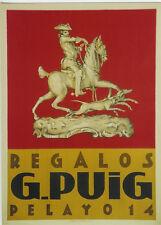 Original Plakat - G. Puig, Pelayo - Regalos