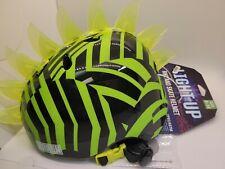 Krash Youth Green Black Light Up Adjustable Bike And Skate Helmet