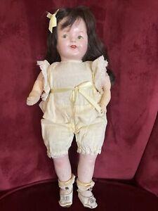 ANTIQUE IDEAL Doll FLOSSIE FLIRT COMPOSITION CLOTH Original Clothes, Shoes 1920s