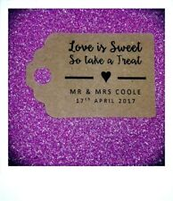 Personalised SIMPLE Love is Sweet Wedding Favour Tags MINI Price Labels Vintage
