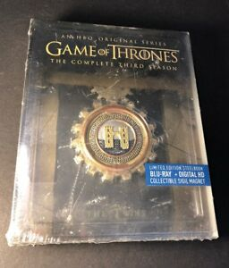 Game of Thrones Complete 3rd Season [ STEELBOOK Edition ] (Blu-ray Disc) NEW