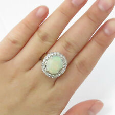 Nyjewel 14k Gelbgold 8.5ct Dainty Opal Diamant Cocktail Ring
