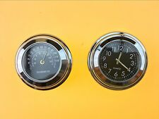 """7/8"""" 1"""" Clock Thermometer For Harley Electra Road Glide King Touring -2007"""