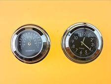 "7/8"" 1"" Clock Thermometer For Honda Shadow 600 700 750 1100 VTX 1300 1800"