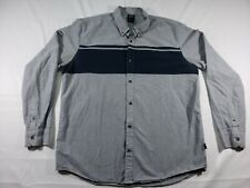 Oakley Mens Size XL Grey Button Down Shirt In Execellent Condition