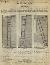 1923 Paper AD 3 PG Rolling Store Library Ladder Wilcox Myers Bicycle Brand