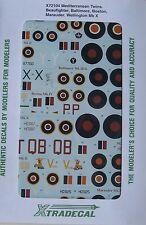 Xtradecal 1/72 X72104 RAF Mediterranean Twins  decal set