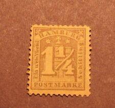 German-Hamburg Stamp Scott# 9b  Numeral on Arms MH 1864 L12