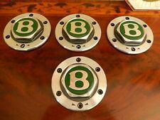 "Bentley Mulliner Le Mans 4 Wheel Hub Caps center for 9.5""x 18"" Wheels NLA"