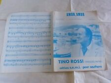 TINO ROSSI - Partition AMOR AMOR !!!