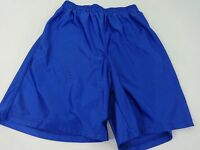 TEAMWORK MENS BLUE POLYESTER ATHLETIC CASUAL SHORTS SIZE M