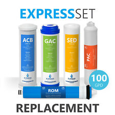6 Month Reverse Osmosis System Replacement Filter Set – 5 Filters – 100 GPD