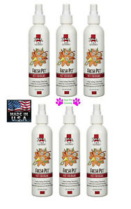 6-Top Performance Grooming FRESH PET Dog Cat Cologne&Deodorant MIST Pump Spray