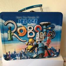 Robots de metal caja de almuerzo Coleccionable 20th centuary Fox film animado azul de estaño
