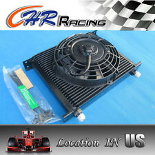 """Universal 7"""" inch fan & 30 Row 10 AN Transmission Oil Cooler"""