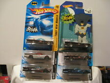 HOT WHEELS BASIC BATMAN BATMOBILES ASSORTMENT w/2007 NEW MODELS (6 CARS)