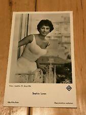 Sophia Loren Postcard Rare Germany No. 4077 Rare