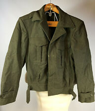 Vtg WWII Korean War Army Military Eisenhower Wool Jacket Worn Distressed Zombie