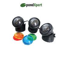PondXpert Pondolight LED Garden Pond Lighting 3 x 1.6w Submersible Lights