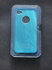iPhone 4 4s Blue Metal Case