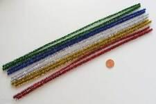 10 Chenilles Cure-pipe 30cm mix couleurs métalisées loisirs créatifs
