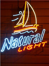 New NATURAL LIGHT  Real Glass Bar Store Home Decor Neon Light Signs 19x15
