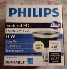 New Philips 11Par30S/END/F22 EnduraLED 11W LED 3000K Dimmable Flood Light Bulb