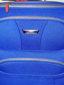 Delsey Luggage Helium Fusion Light 25 Inches Expandable Upright, Blue