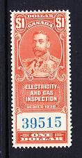 CANADA 1930 $1 ELECTRICITY & GAS REVENUE BAREFOOT No.4 MNH.