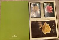 "Vintage Hallmark Roses- ""ROSE PASTELS"" Bridge Set 2 Decks Cards Score Pad NIP"