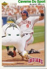 137 ALBERT BELLE CLEVELAND INDIANS  BASEBALL CARD UPPER DECK 1992