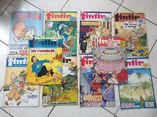 Lot de fascicules Journal Tintin  années 80 TBE