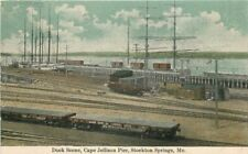 C-1910 Dock Cape Jellison Pier STOCKTON SPRINGS MAINE Wardwell postcard 3633