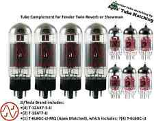 JJ Premium (TESLA) Tube Complement set for Fender Twin Reverb  & Showman amp