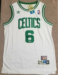 Bill Russell Autographed White Boston Celtics Jersey Hollywood Collectibles COA