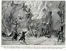 1915 * Lille Flucht aus dem brennenden Stadtviertel Porte de Douai  *  WW1