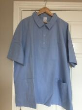 "ALEXANDRA H602  Mens Light Blue Scrub Medical Nurses Vets Tunic Size 55"" (3xl)"