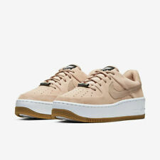 Nike Women's Air Force 1 Sage Low Casual Shoe 'Beige Suede' White AR5339-203 NEW