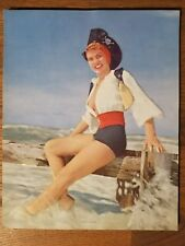 Vintage 1940s Pin Up Pirate's Dream Embossed Paper 6425 A.S. Litho USA