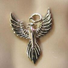 9 ct GOLD  new 3D phoenix bird pendant or charm
